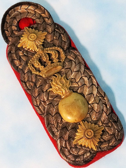 BADEN - SHOULDER BOARD - OBERST - ARTILLERIE-REGIMENT - Imperial German Military Antiques Sale