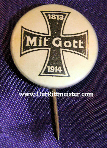 GERMANY - STICKPIN - PATRIOTIC IRON CROSS - Imperial German Military Antiques Sale