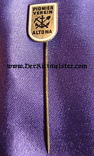 GERMANY - STICKPIN - PIONIER VETERAN GROUP - ALTOONA - Imperial German Military Antiques Sale