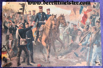 COLOR POSTCARD - CROWN PRINCE FRIEDRICH WILHELM - BATTLE OF WORTH - Imperial German Military Antiques Sale