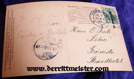 POSTCARD - KRONPRINZ WILHELM - WIFE KRONPRINZESSIN CECILIE - FIRST CHILD PRINZ WILHELM - Imperial German Military Antiques Sale