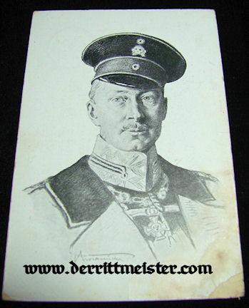 POSTCARD - KRONPRINZ WILHELM - Imperial German Military Antiques Sale
