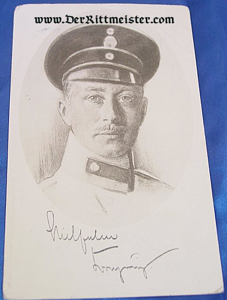 POSTCARD - CROWN PRINCE WILHELM - PRUSSIA - Imperial German Military Antiques Sale