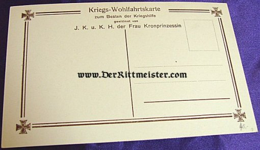 POSTCARD - KRONPRINZ WILHELM'S FOUR SONS - FELDGRAU UNIFORMS - Imperial German Military Antiques Sale