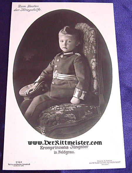 POSTCARD - KRONPRINZ WILHELM'S YOUNG SON - Imperial German Military Antiques Sale