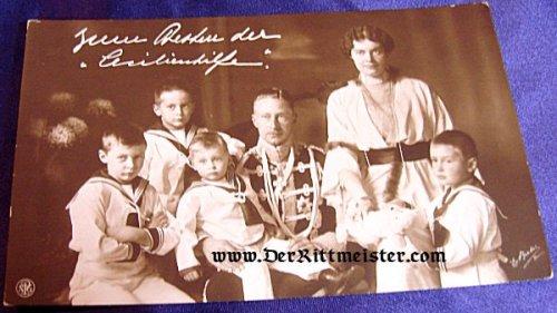 POSTCARD - KRONPRINZ WILHELM - KRONPRINZESSEN CECILIE - FOUR SONS - Imperial German Military Antiques Sale