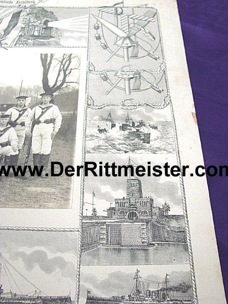 LARGE-FORMAT - DECORATIVE PHOTOGRAPH - SAILOR - MATROSEN-DIVISION - Imperial German Military Antiques Sale