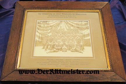 FRAMED PHOTOGRAPH - SAILORS - KOMMANDO IN ADMIRALSTAB - BERLIN 1907 - Imperial German Military Antiques Sale