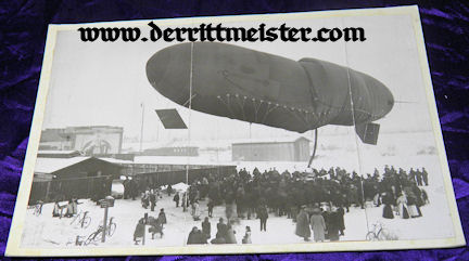 LARGE-FORMAT PHOTOGRAPH - OBSERVATION BALLOON - Imperial German Military Antiques Sale