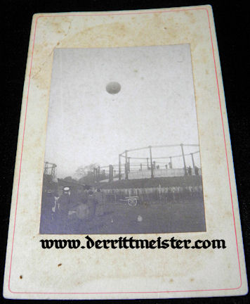 MATTED ORIGINAL PHOTOGRAPH - EARLY OBSERVATION BALLOON - Imperial German Military Antiques Sale