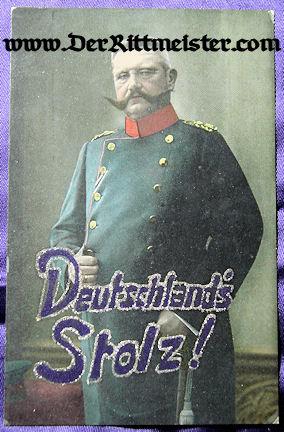 COLOR POSTCARD - PAUL von HINDENBURG - Imperial German Military Antiques Sale