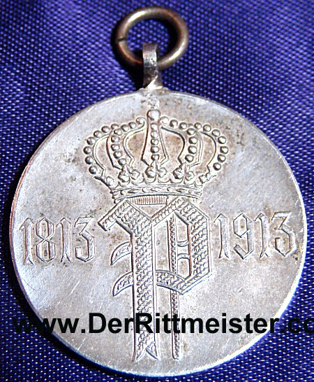 OLDENBURG - VETERAN'S MEDAL - 100TH ANNIVERSARY - INFANTERIE-REGIMENT Nr 91 - Imperial German Military Antiques Sale