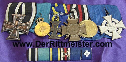 GERMANY - MEDAL BAR - SIX PLACE WITH MATCHING RIBBON BARS - Imperial German Military Antiques Sale