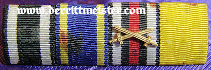 BRAUNSCHWEIG - RIBBON BAR - FOUR PLACE - Imperial German Military Antiques Sale