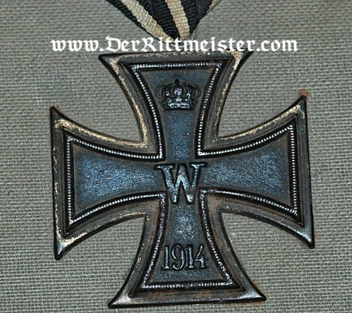 GERMANY - STORAGE BOX - Featuring an authentic 1914 Iron Cross 2nd Class - Imperial German Military Antiques Sale