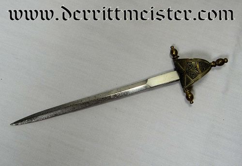 SPAIN - MINIATURE SWORD - LETTER OPENER  - DESK PIECE (NON IMPERIAL GERMAN) - Imperial German Military Antiques Sale