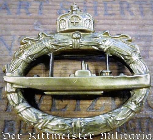 GODET HALLMARKED U-BOOT BADGE - Imperial German Military Antiques Sale