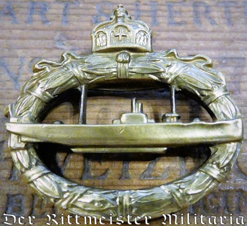 GERMANY - BADGE - U BOOT - GODET HALLMARKED - NAVY - Imperial German Military Antiques Sale