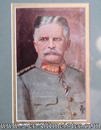 FRAMED DOCUMENT & POSTCARD SIGNED BY GENERALFELDMARSCHALL AUGUST von MACKENSEN - Imperial German Military Antiques Sale