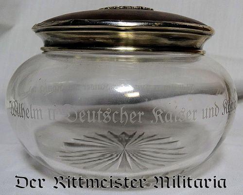 "J. GODET & SÖHNE ""BON BON"" JAR GIVEN BY KAISER WILHELM II AS ROYAL GIFT - Imperial German Military Antiques Sale"