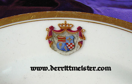DINNER PLATE - DINNER SERVICE - ROYAL HOUSE - OLDENBURG - Imperial German Military Antiques Sale
