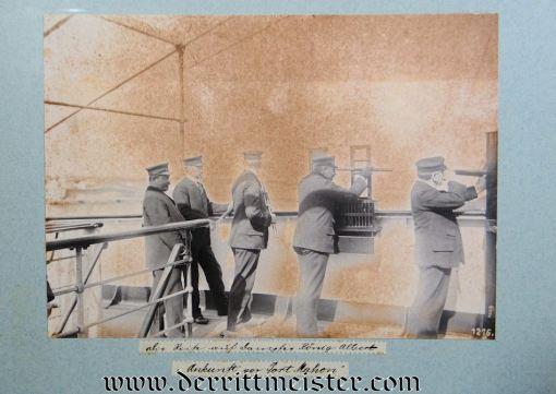 PHOTO ALBUM: KAISER WILHELM II AND KAISERIN AUGUSTA VIKTORIA ONBOARD VARIOUS NAVY SHIPS INCLUDING S.M.Y. HOHENZOLLERN, S.M.S. KAISER WILHELM II, AND S.M.Y. IDUNA - Imperial German Military Antiques Sale