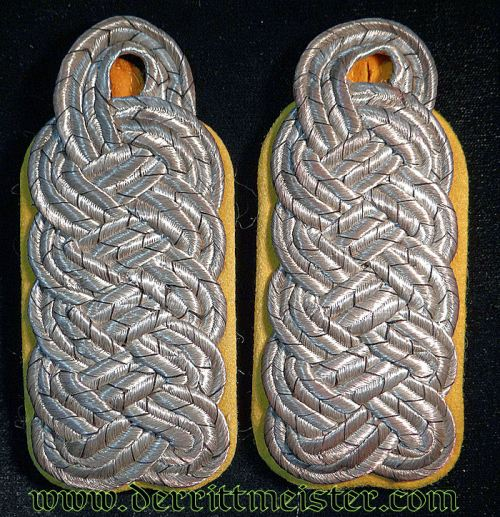 PRUSSIA - SHOULDER BOARDS - MAJOR - HEAVY-ARTILLERIE REGIMENT - Imperial German Military Antiques Sale