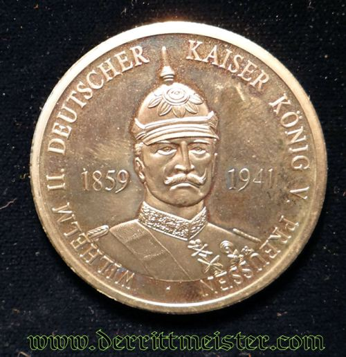 GERMANY - TABLE MEDAL - KAISER WILHELM II - Imperial German Military Antiques Sale