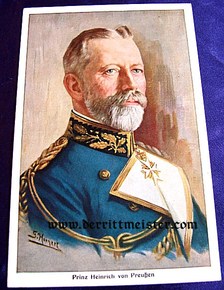 COLOR POSTCARD - PRINZ HEINRICH - PRUSSIA - Imperial German Military Antiques Sale