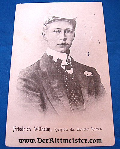 POSTCARD - KRONPRINZ WILHELM AS YOUNG MAN - Imperial German Military Antiques Sale
