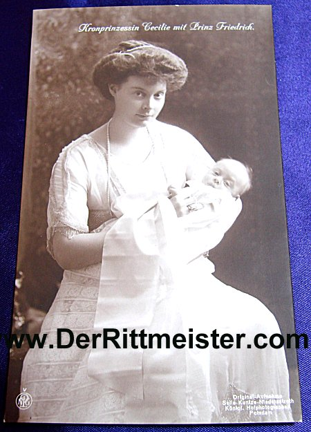 POSTCARD - PRINCE FRIEDRICH - PRUSSIA - Imperial German Military Antiques Sale