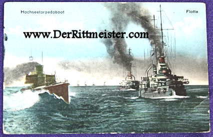 COLOR POSTCARD - TORPEDOBOOT SAILING WITH FLEET - Imperial German Military Antiques Sale
