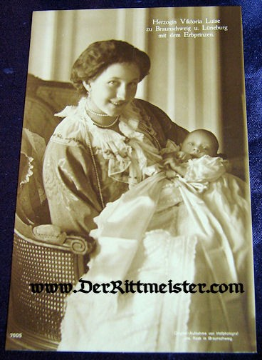 POSTCARD - DUCHESS VIKTORIA LUISE - SON - WIFE - FIRST SON - BRAUNSCHWEIG - Imperial German Military Antiques Sale