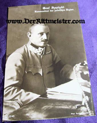 POSTCARD - GRAF SZEPTYCKI - Imperial German Military Antiques Sale