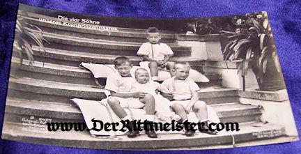 POSTCARD - KRONPRINZ WILHELM'S FOUR SONS - Imperial German Military Antiques Sale