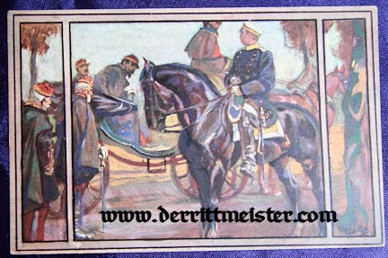 COLOR POSTCARD - OTTO von BISMARCK - FRENCH SURRENDER - Imperial German Military Antiques Sale