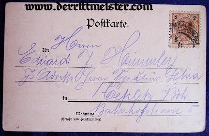 POSTCARD - GERMAN CHANCELLOR FÜRST (PRINCE) OTTO von BISMARCK - Imperial German Military Antiques Sale