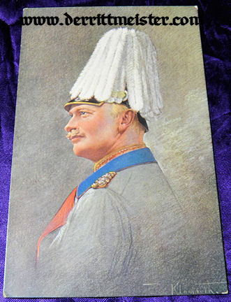 COLOR POSTCARD - KÖNIG AUGUST III - SAXONY - Imperial German Military Antiques Sale