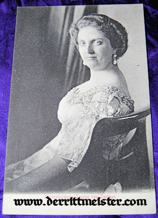 POSTCARD - KRONPRINZESSIN LOUISE - SAXONY - Imperial German Military Antiques Sale