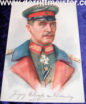COLOR POSTCARD - HERZOG ALBRECHT - WÜRTTEMBERG - Imperial German Military Antiques Sale