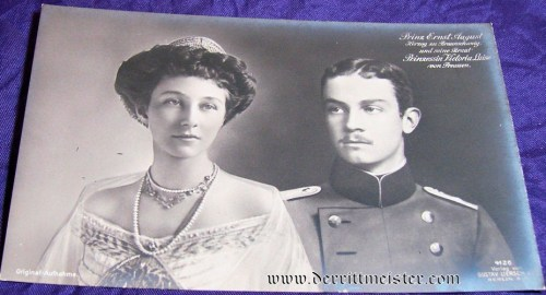 POSTCARD - HERZOG ERNST AUGUST - HERZOGIN VIKTORIA LUISE - BRAUNSCHWEIG - Imperial German Military Antiques Sale