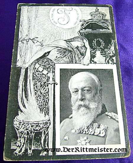 POSTCARD - GRAND DUKE FRIEDRICH I - BADEN - Imperial German Military Antiques Sale