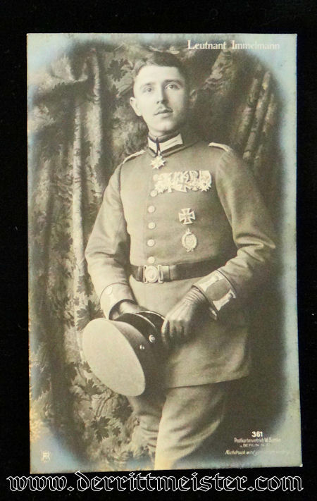 SANKE CARD Nr 361 OF PLM WINNER OBERLEUTNANT MAX IMMELMANN - Imperial German Military Antiques Sale