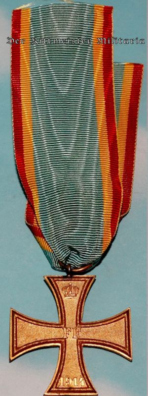 COMBATANT'S 1914 MILITARY SERVICE CROSS 2nd CLASS - MECKLENBURG-SCHWERIN - Imperial German Military Antiques Sale