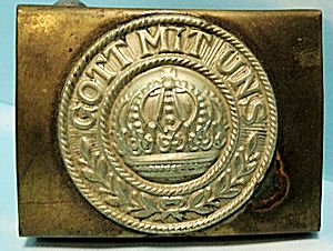 PRUSSIA - BELT BUCKLE - ENLISTED MAN - PRE WW I - Imperial German Military Antiques Sale