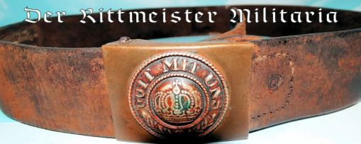 PRUSSIA - BELT BUCKLE - ENLISTED MAN  / NCO - PRE WW I - Imperial German Military Antiques Sale