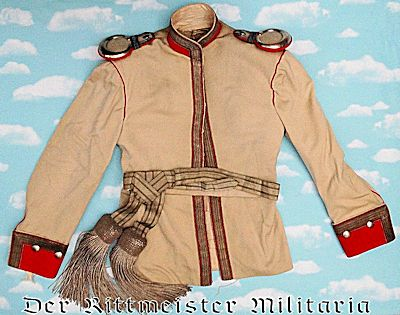PRUSSIA - DRESS TUNIC - KOLLAR AND SASH - OFFICER - KÜRAßIER-REGIMENT Nr 4 - Imperial German Military Antiques Sale