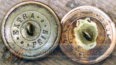 PRUSSIA - COLLAR BUTTONS - GOLD FELDWEBEL - Imperial German Military Antiques Sale