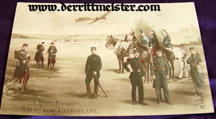 COLOR POSTCARD - FRENCH 4. ARMEE - AIRPLANES - Imperial German Military Antiques Sale