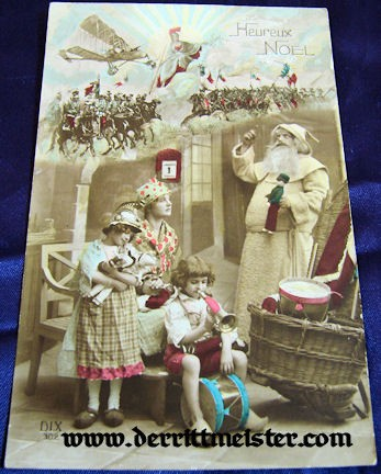 COLOR POSTCARD - MOTHER - CHILDREN - FATHER CHRISTMAS - Imperial German Military Antiques Sale